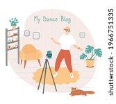 dance star is recording video...   Shutterstock .eps vector #1966751335