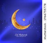 islamic festival eid mubarak... | Shutterstock .eps vector #1966755778