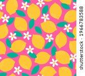 cute hand drawn lemon  flower... | Shutterstock .eps vector #1966783588