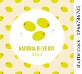 national olive day vector...   Shutterstock .eps vector #1966786705