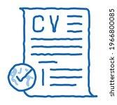 confirmed resume sketch icon...   Shutterstock .eps vector #1966800085