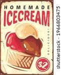 ice cream retro sign. vintage... | Shutterstock .eps vector #1966803475