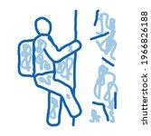 alpinist climbing sketch icon...   Shutterstock .eps vector #1966826188