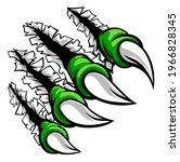 a monster claw hand ripping...   Shutterstock . vector #1966828345