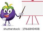a smiling mangosteen character... | Shutterstock .eps vector #1966840408