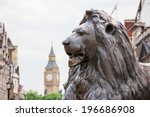 Bronze Lion In Trafalgar Square ...