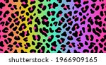 rainbow leopard skin. vector...   Shutterstock .eps vector #1966909165