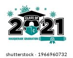 2021 class in medical mask... | Shutterstock .eps vector #1966960732