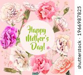 square mother's day card with... | Shutterstock .eps vector #1966987825