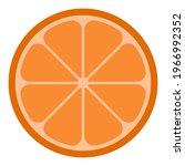 realistic orange slice vector...