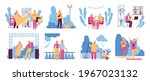 flat set with elderly people... | Shutterstock .eps vector #1967023132