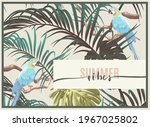 vintage tropical design with... | Shutterstock .eps vector #1967025802