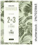 vintage monochrome pale plive... | Shutterstock .eps vector #1967025865
