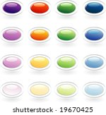 Vector Set Of The Oval Buttons