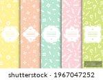 set of trendy seamless bright... | Shutterstock .eps vector #1967047252