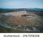 Aerial Top View Large Garbage...