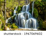 Small photo of Beusnita 2 waterfall, one of many cascades encountered while trekking on the Cheile Nerei-Beusnita National Park