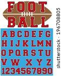 foot ball font  | Shutterstock .eps vector #196708805