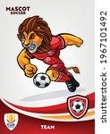 lion mascot for soccer team | Shutterstock .eps vector #1967101492
