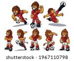 set of lions for soccer... | Shutterstock .eps vector #1967110798