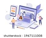 people characters choosing best ... | Shutterstock .eps vector #1967111008