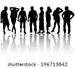 group of people | Shutterstock .eps vector #196713842