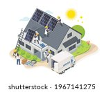 solar cell team service house... | Shutterstock .eps vector #1967141275