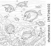 fish underwater.coloring book...   Shutterstock .eps vector #1967146102