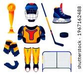 hockey equipment set  training... | Shutterstock .eps vector #1967162488