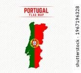 flag map of portugal. portugal... | Shutterstock .eps vector #1967196328
