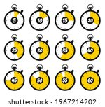 stopwatch  timer icon set for...