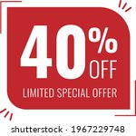 40  off limited special offer.... | Shutterstock .eps vector #1967229748