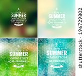 set of vector summer... | Shutterstock .eps vector #196729802
