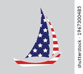 american flag in the shape of a ... | Shutterstock .eps vector #1967300485