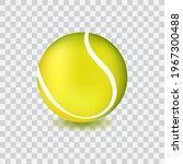 yellow tennis ball icon ... | Shutterstock .eps vector #1967300488