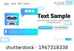 modern robot chatbot assistant...   Shutterstock .eps vector #1967318338