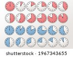 watch  time icon vector...