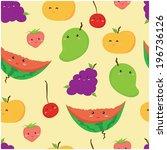 fruits seamless pattern for... | Shutterstock .eps vector #196736126