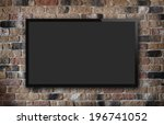 tv display on old brick wall... | Shutterstock . vector #196741052