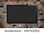tv display on old brick wall... | Shutterstock . vector #196741052