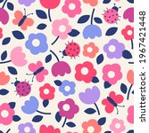 cute hand drawn floral and...   Shutterstock .eps vector #1967421448
