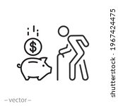 saving money icon  pension fund ... | Shutterstock .eps vector #1967424475