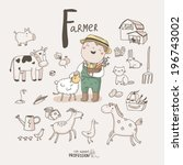 cute vector alphabet profession.... | Shutterstock .eps vector #196743002