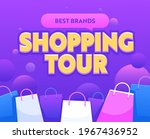 shopping tour banner with... | Shutterstock .eps vector #1967436952
