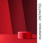 3d red glamour podium for...   Shutterstock .eps vector #1967447722