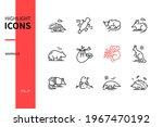 different mammals   modern line ...   Shutterstock .eps vector #1967470192