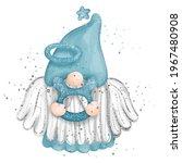 digital paint watercolor gnome...   Shutterstock .eps vector #1967480908