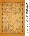 antique map of south america ... | Shutterstock .eps vector #1967490445