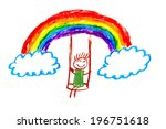 Rainbow Kids Drawing