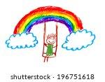 Rainbow Kids Drawing